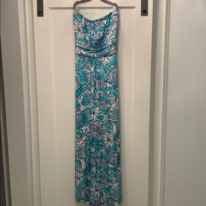 Lilly Pulitzer strapless jersey maxi
